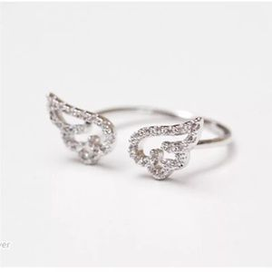 New 925 silver angel wing ring